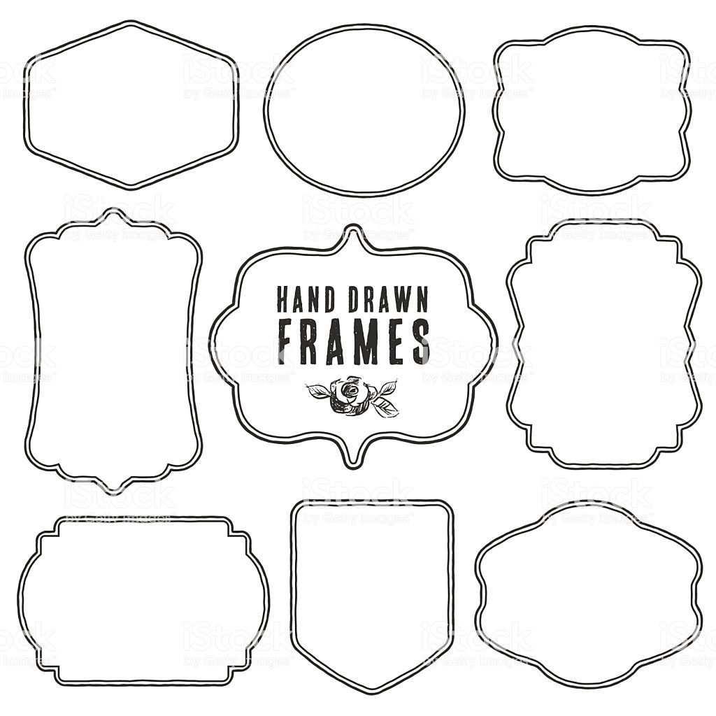 Satz Vintage Leere Frames Und Etiketten Vektor Vintage Etiketten