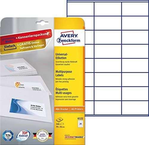 Gutes Produkt Eur 5 09 Avery Zweckform 6122 Adressetiketten A4