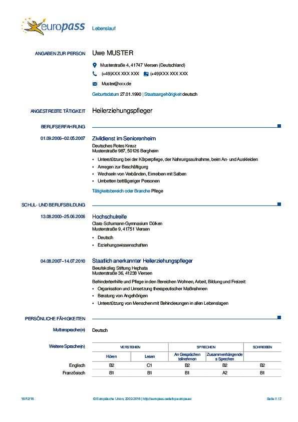 20 Lebenslauf Deutsch Europass Invitation Template Invitation