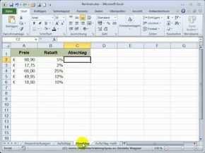 Excel Einstieg 24 Prozentrechnungen Mit Auf Und Abschlag Excel