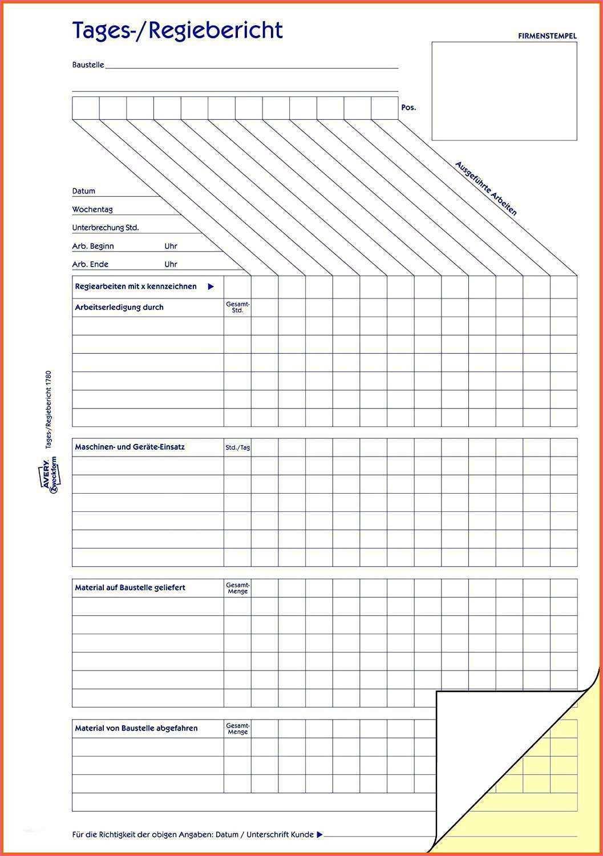 Rapportzettel Vorlage Handwerk Rapportzettel Vorlage Handwerk