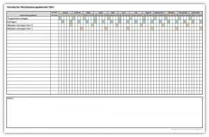 Excel Vorlage Monatskalender