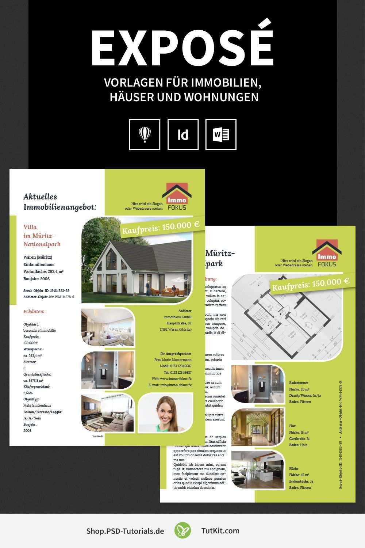 Expose Vorlagen Fur Immobilien Hauser Und Wohnungen Flugblatt