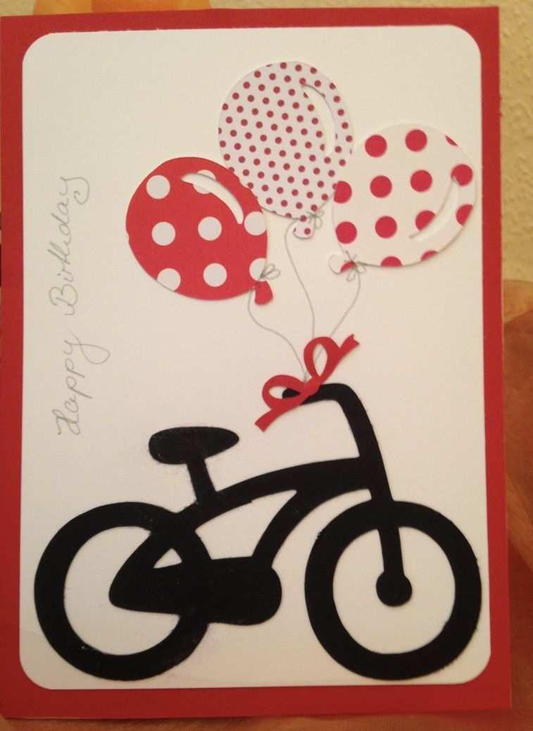 Geburtstagskarte Scan N Cut Vorlagen Fahrrad Und Luftballons Eva
