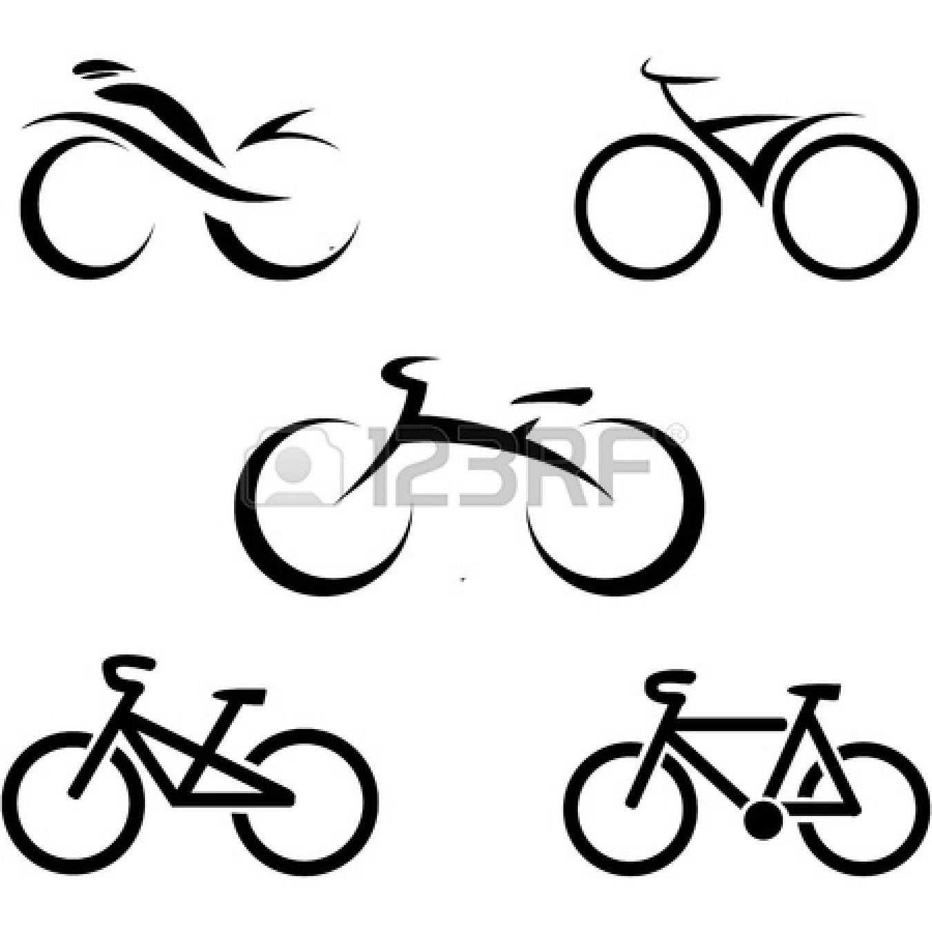 Stock Vector Fahrrad Tattoo Radfahren Tattoo Grafik Design