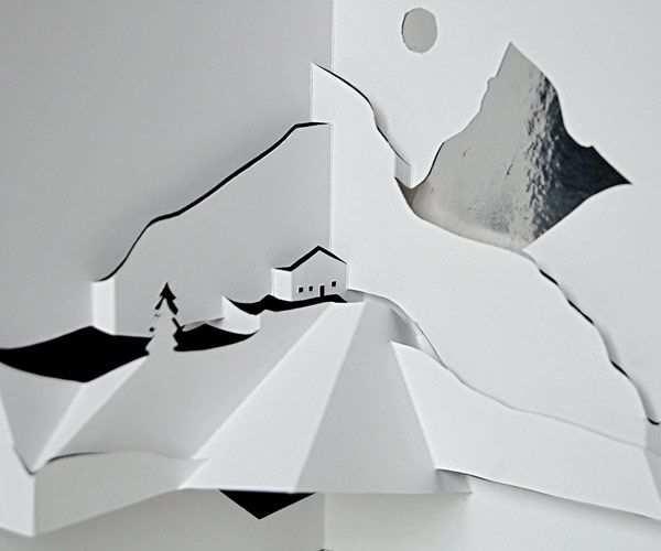 Mountain Landscape Pop Up Card Templates Pop Up Art Pop Up Book