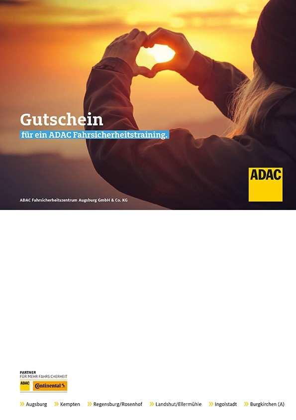 Gutscheine Fur Adac Fahrsicherheitstraining Verschenken