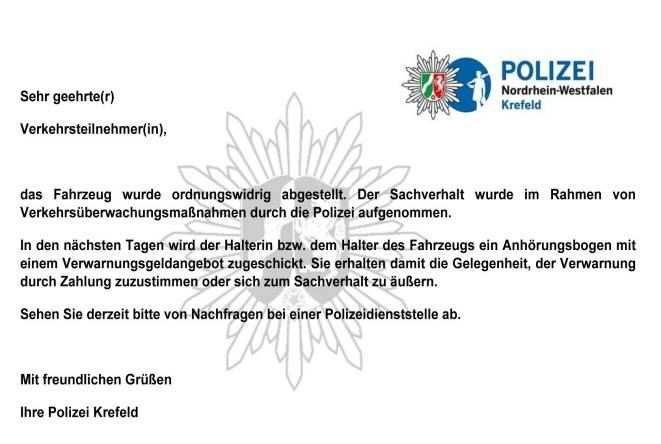 Zahlschein Kommt Per Post Polizei Falschparker Erhalten Jetzt