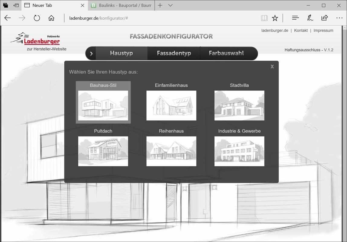 Online Neuer Fassaden Konfigurator Von Ladenburger