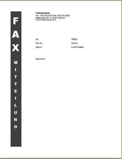 Faxvorlage 9 Office Lernen Com