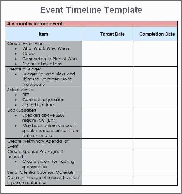 Conference Planning Timeline Checklisten Vorlage Kalender