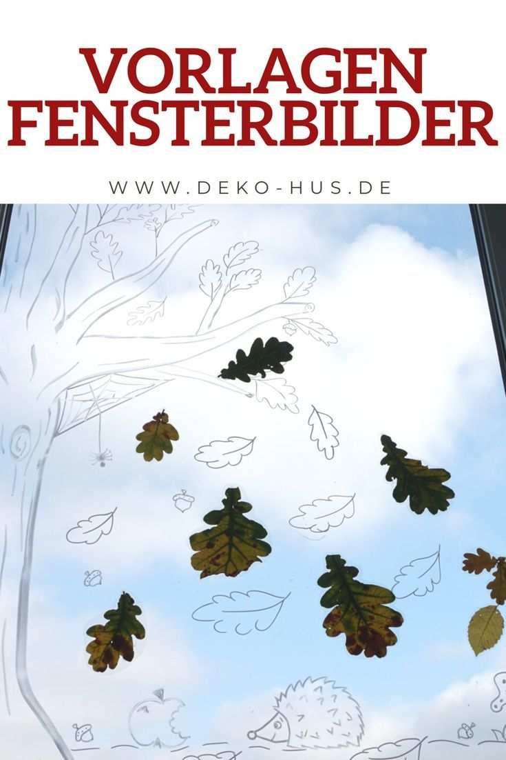Herbst Fensterbilder Fensterbilder Kostenlose Vorlagen Und