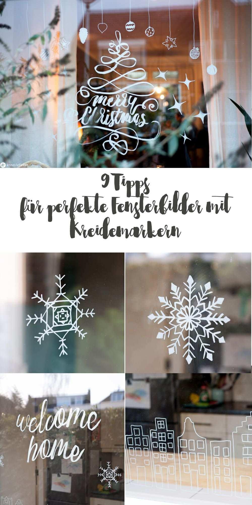 9 Tipps Fur Fensterbilder Mit Kreidemarkern Weihnachtsdeko