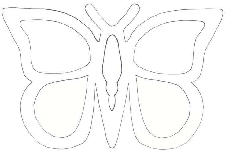 Schmetterling Vorlage Fensterbild 595 Malvorlage Vorlage