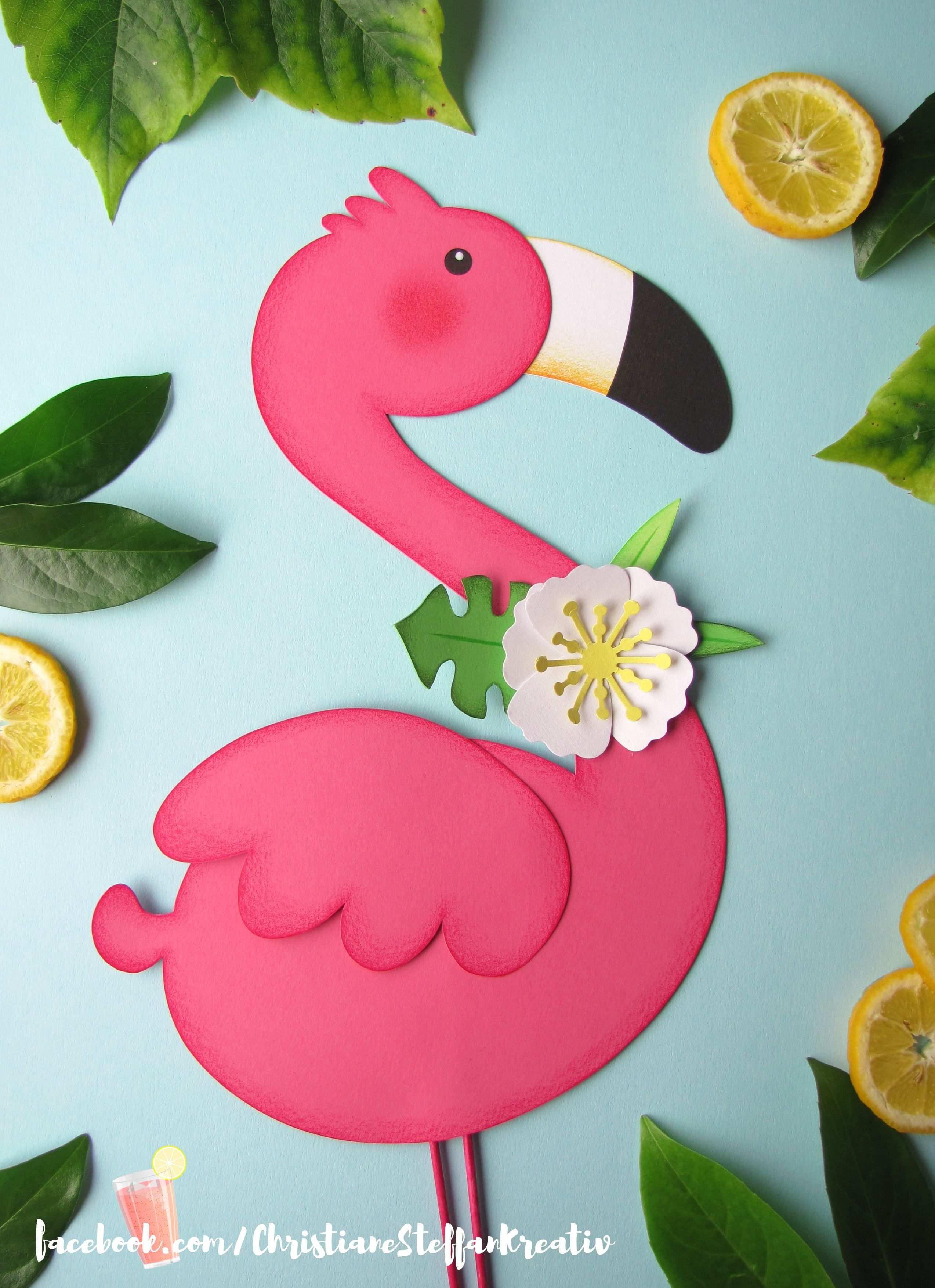 Fensterbild Flamingo Fensterbilder Kinder Basteln Ideen