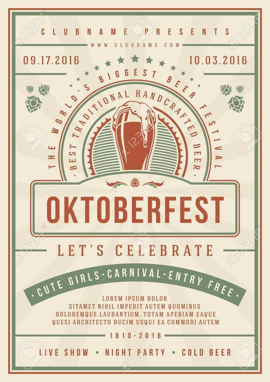 Oktoberfest Beer Festival Celebration Concept Designed For Poster