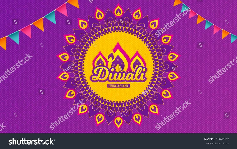 Diwali Festival Background Hindu Festive Modern Greeting Card