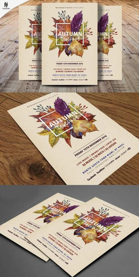 Autumn Festival Flyer Template Flyer Templates 8 00 In 2020