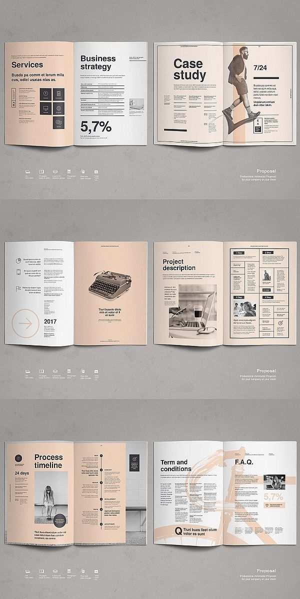 Entwurfsvorschlag Vorlage Broschure Design Broschurendesign