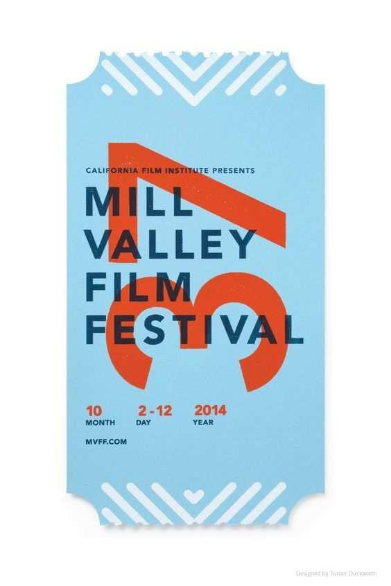Beautiful Poster Designs Ticket Design Film Festival Poster