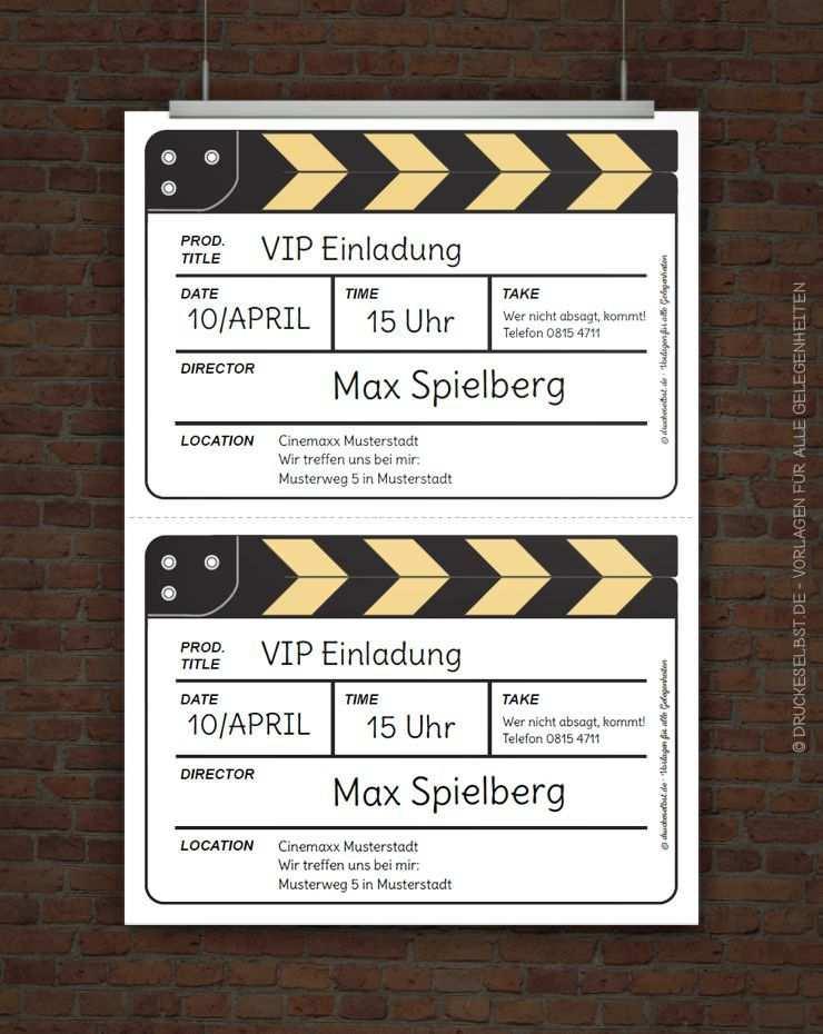 Kostenlose Einladung Filmklappe Einladung Kindergeburtstag
