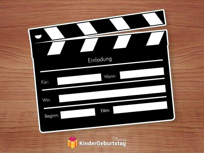 Perfekte Einladungen Fur Eine Geburtstagsfeier Im Kino Einladung