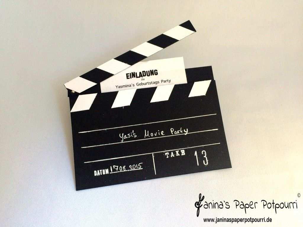 Let S Go To The Movies Einladungskarte Filmklappe