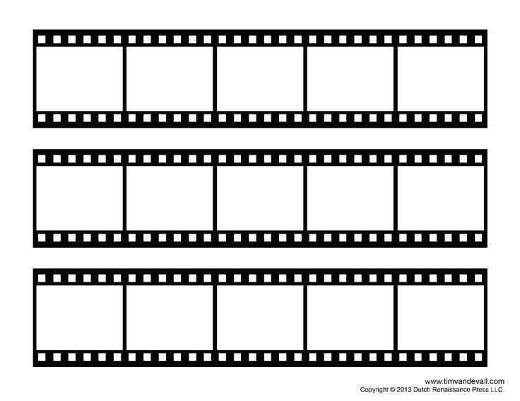 Film Strip Template More Pomysly Urodzinowe Plakat I Szablony