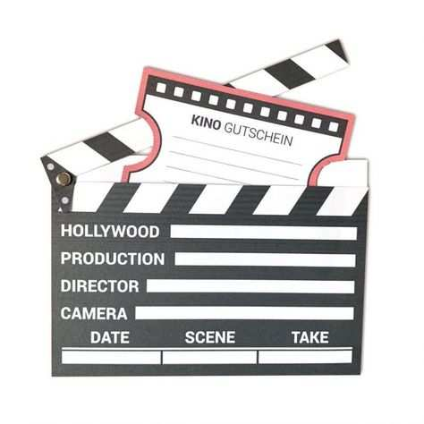 Kinogutschein Als Filmklappe Basteln Hollywood Mini Scene