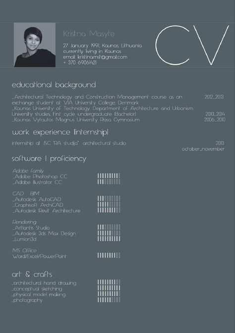 2014 Undergraduate Architectural Portfolio Von Kristina Masytė