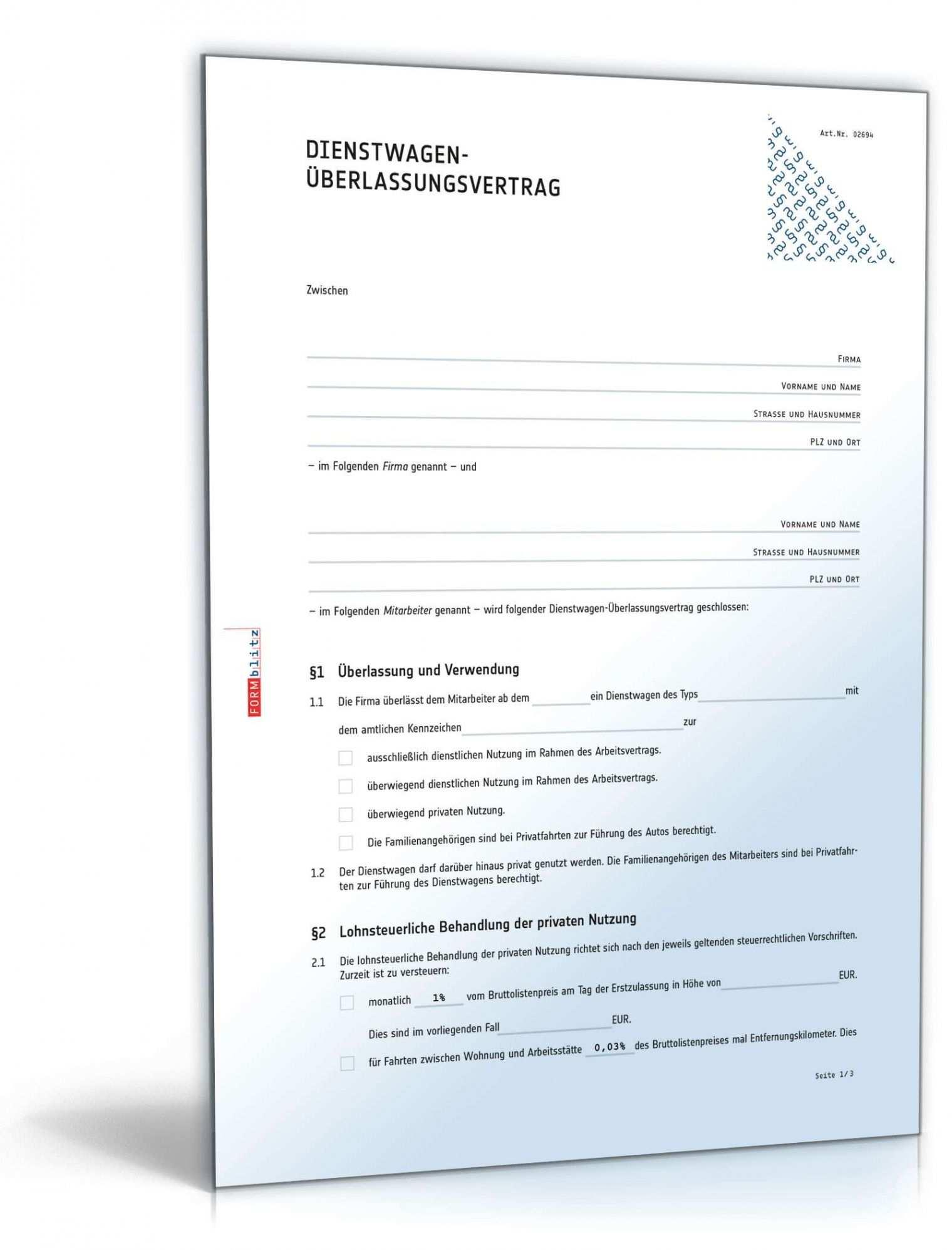 Firmenwagen Vereinbarung Vorlage In 2020 Vorlagen Word