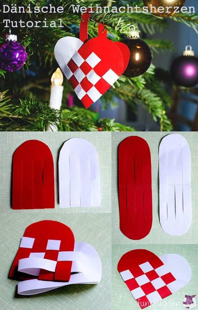 Gratis Bastelanleitung Danische Weihnachtsherzen Weben Aus