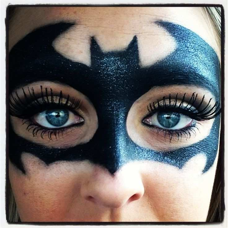 Make Up Of A Bat Step By Step Instructions Face Painting