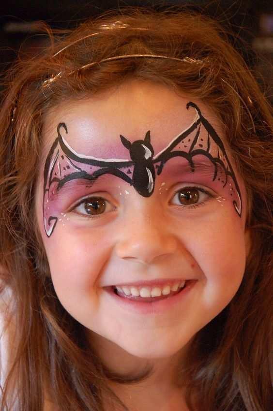 Vysledek Obrazku Pro Bat Face Paint Kids Kinder Schminken