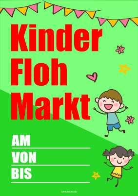 Plakat Kinder Flohmarkt Pdf Vorlage Zum Ausdrucken