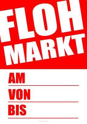Plakat Flohmarkt Pdf Vorlage Zum Ausdrucken