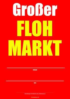 Plakat Grosser Flohmarkt Pdf Vorlage Zum Ausdrucken