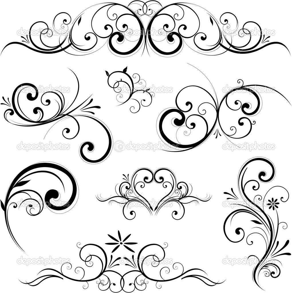 Herunterladen Vektor Scroll Ornament Stockillustration