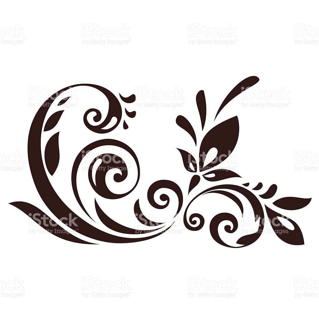 Vector Illustration Of Floral Ornament For Design Rose Schablone