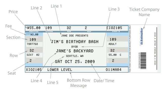 Fake Ticket Generator Konzertkarte Geschenk Ticket Vorlage