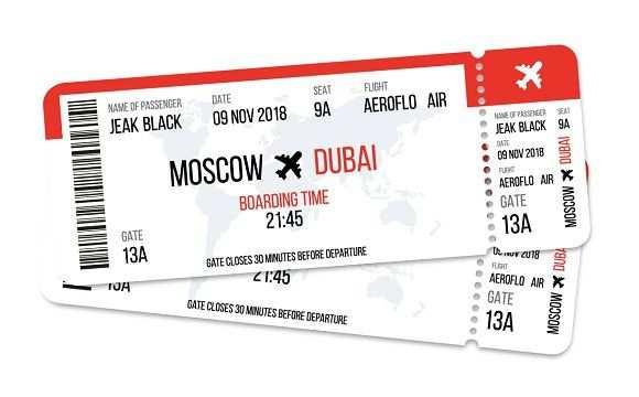 Realistic Airline Ticket Design Ticket Design Airline Tickets