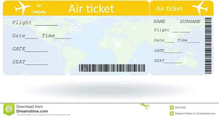 Airline Ticket Templates Template 91 Free Word Excel Pdf Variant
