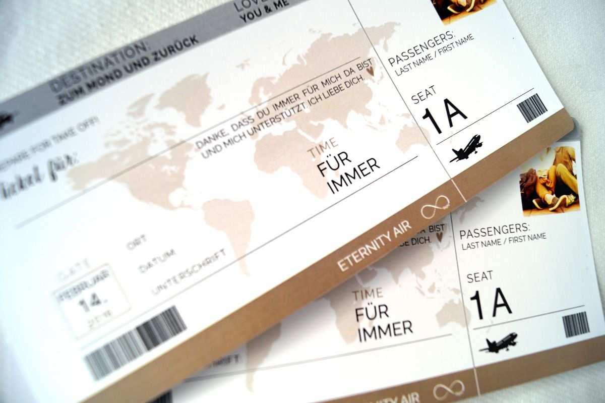 Kostenloser Download Toller Gutschein Im Look Eines Flugtickets