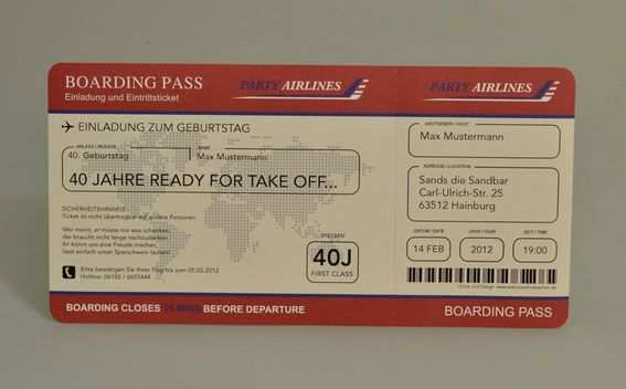 Einladungskarten Flugticket Geburtstag Ticket Einladung Karte Boarding Pass Einladungen Einladungskarten Einladung Geburtstag
