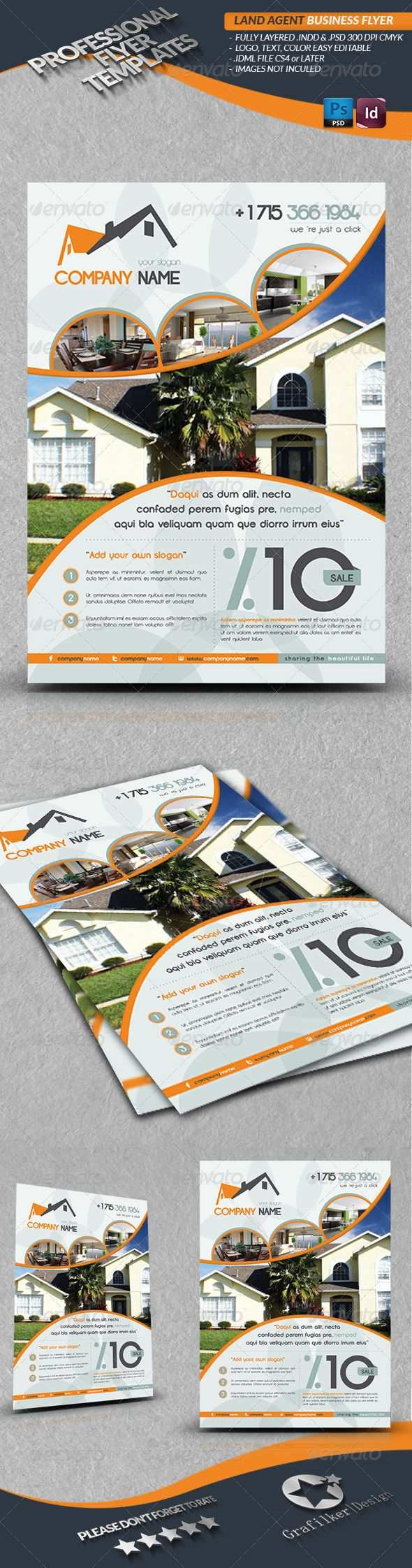 Land Agent Business Flyer Corporate Flyer Template Psd Indesign