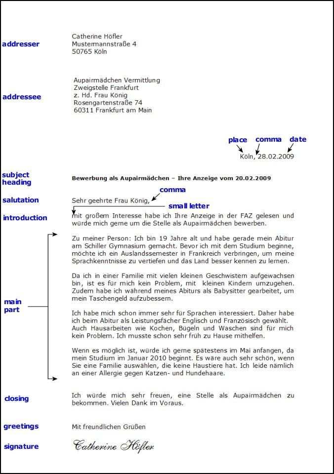 Toms Deutschseite Schreiben Formeller Brief Brief Deutsch