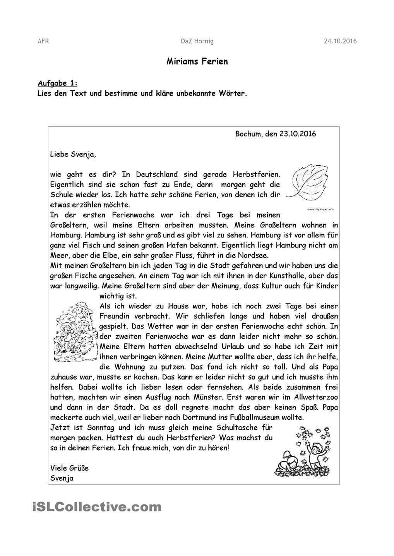 21 Brief Schreiben 5 Klasse Freyajacklin Brief Deutsch