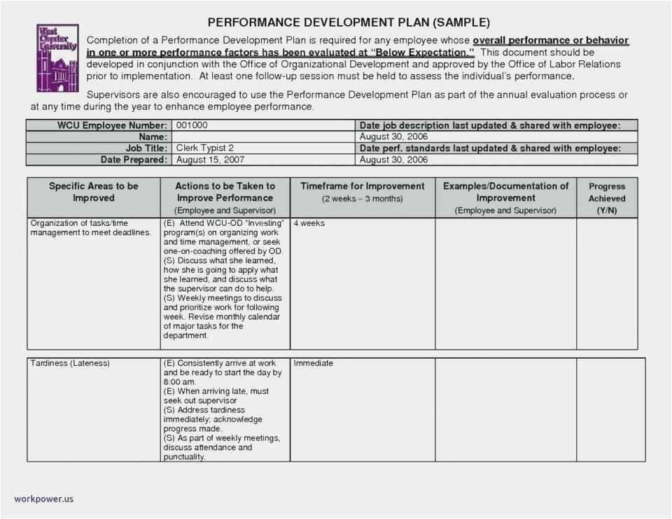 30 Sample Employee Performance Improvement Plan Template Free 52