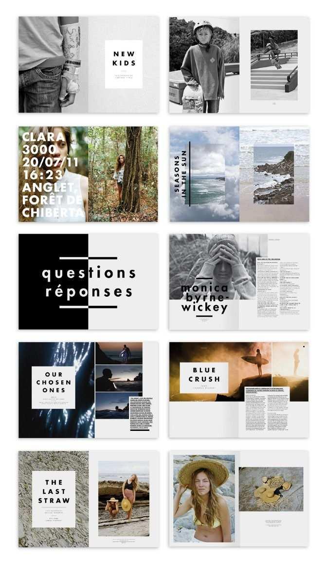 Layout Design De Portfolio Mise En Page Redactionnelle Mise