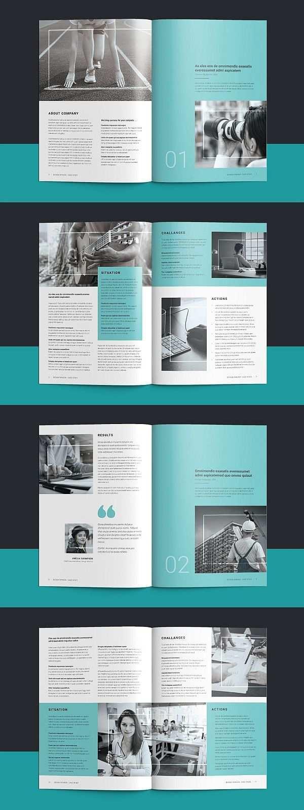 Case Study Booklet Bookletgestaltung Seiten Layout Design Und